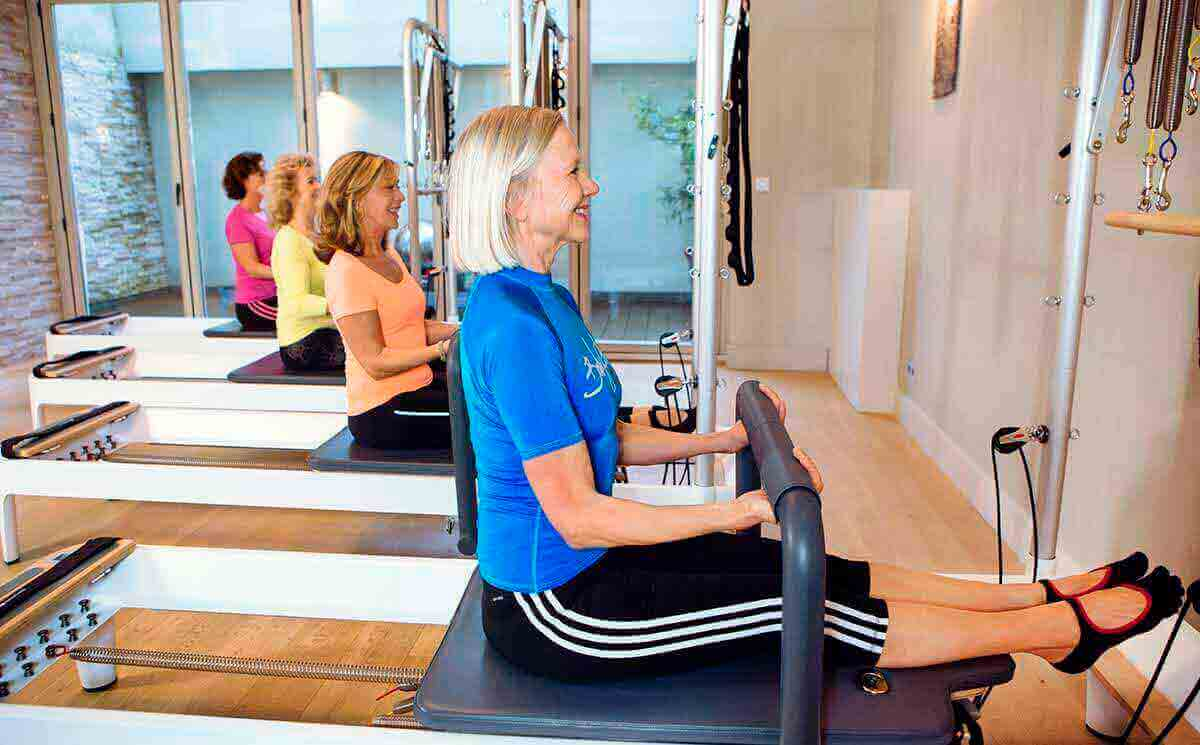 Instead of training with traditional Pilates-equipment, this program uses the special Allegro device.